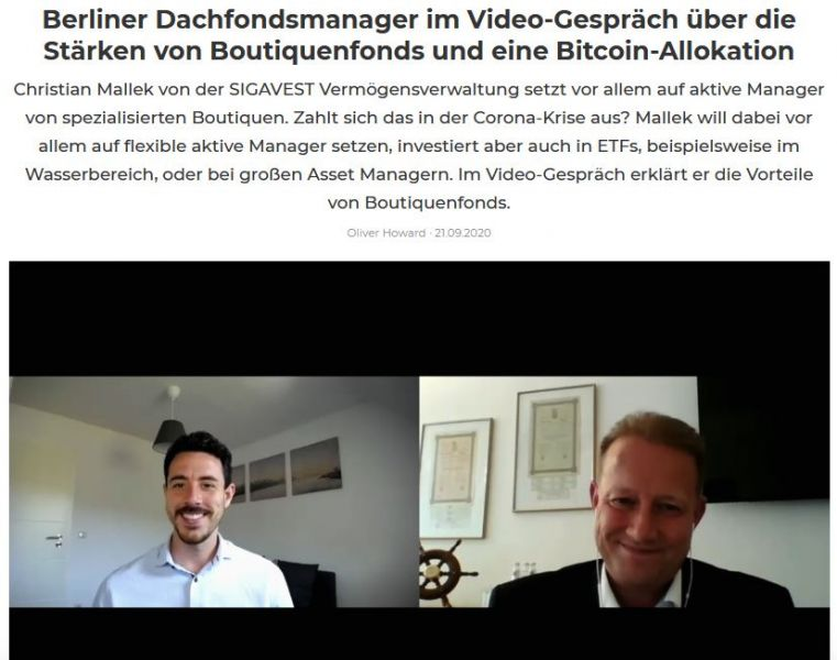 Im Video-Gespräch: Oliver Howard (Fundview) mit Christian Mallek (SIGAVEST)